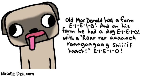Natalie Dee comic: e i e i o * Text: 