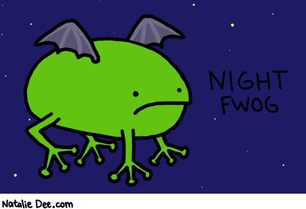 Natalie Dee comic: night fwog * Text: 