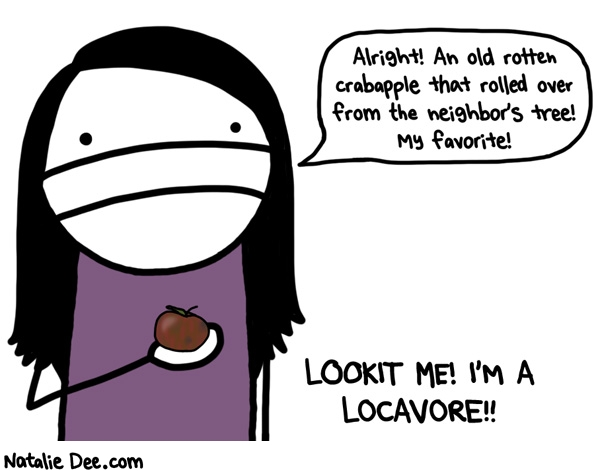 Natalie Dee comic: ohio locavore * Text: