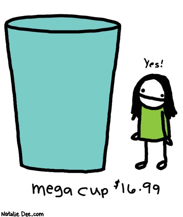 Natalie Dee comic: item number 55378008 * Text:   Yes!   mega cup $16.99