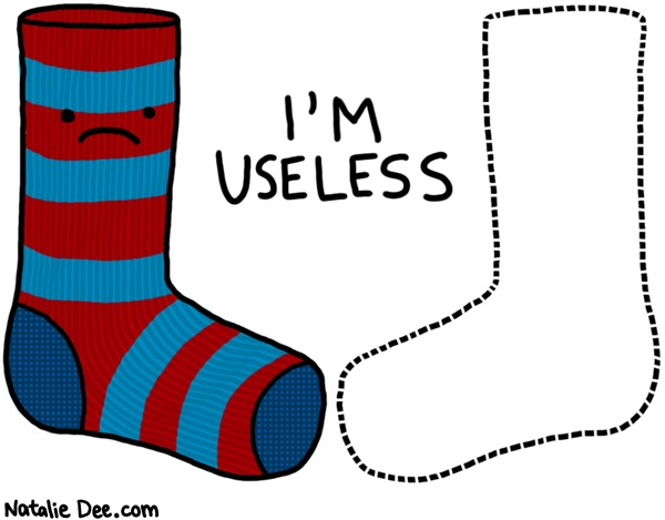 Natalie Dee comic: im useless * Text: im useless